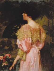 Charles Henry Malcolm Kerr - la rose Coloré Robe ( mlle giles )