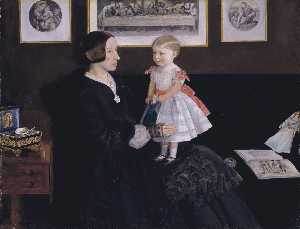 John Everett Millais - mme james wyatt Jr et sa fille Sarah