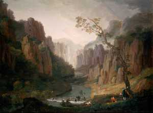 Thomas Smith - Paysage , Vallée Derbyshire