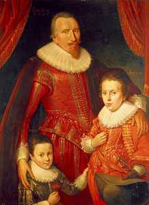 Adam De Colone - George Séton ( 1584–1650 ) , 8th lord seton et 3rd Comte de Winton , Royaliste , avec son Fils , George ( 1613–1648 ) , lord seton , et alexandre ( 1620–1691 ) , 1st Vicomte Kingston , Royalistes