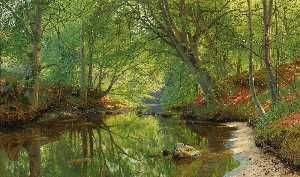 Peder Mork Monsted - forêt ruisseau