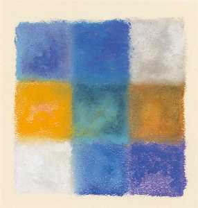 Augusto Giacometti - abstraction à blau , gelb und weiss