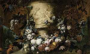 Gaspar Peeter The Younger Verbruggen - Guirlande de fleurs
