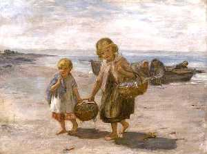 William Mctaggart - poisson issus  au  barque