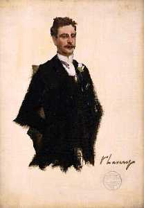 John Lavery - l'honorable charles w . Une . N . cochrane baillie , lord lamington ( croquis )
