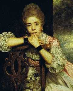Joshua Reynolds - mme abington comme miss prue à william Congreve's 'Love pour Love'