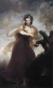 Joshua Reynolds - Mme . Musters comme hebe