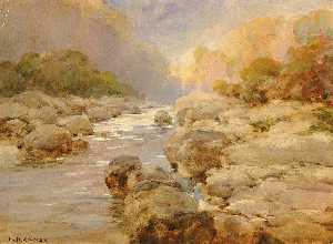 William Henry Holmes - rock creek non modifié , environ 1910