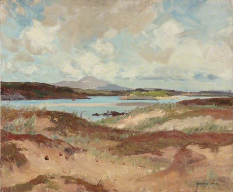 Anglesey, huile sur toile de Richard Jack (1866-1952, United Kingdom)