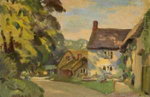 George Herbert Buckingham - Cottages Sulgrave , Northamptonshire