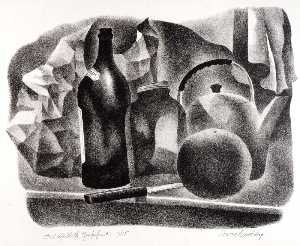 Harry Brodsky - nature morte avec pamplemousse
