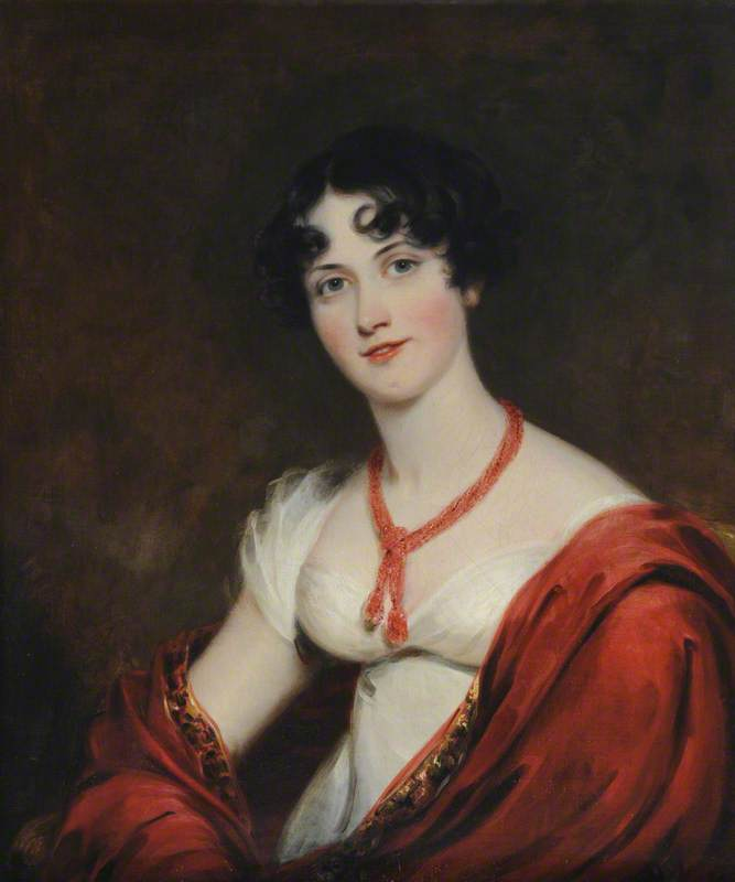 lady caroline gordon ( 1785–1866 ) , lady chesham, 1814 de Thomas Barber | Copie Tableau | WahooArt.com