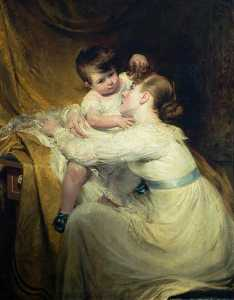 William Hilton Ii - harriet hilton ( 1791–1866 ) et enfant ( Hélène Hilton , 1811–1873 )