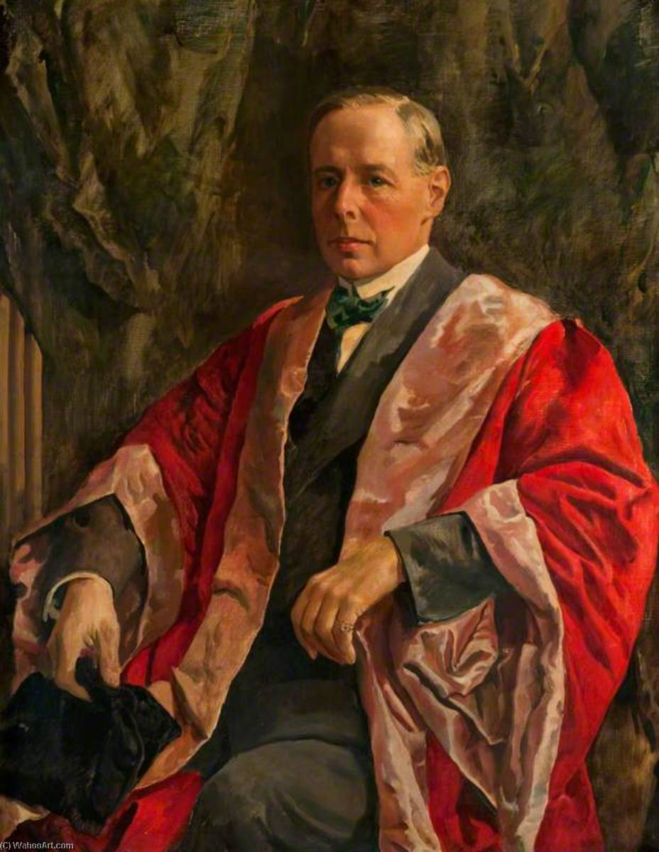 robert latta ( 1865–1932 ) , Professeur de Logique à l Université de Glasgow ( 1902–1925 ), 1932 de Kenneth Green | Reproductions De Peintures Kenneth Green | WahooArt.com