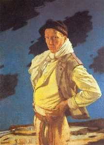 William Newenham Montague Orpen - l'homme de aran