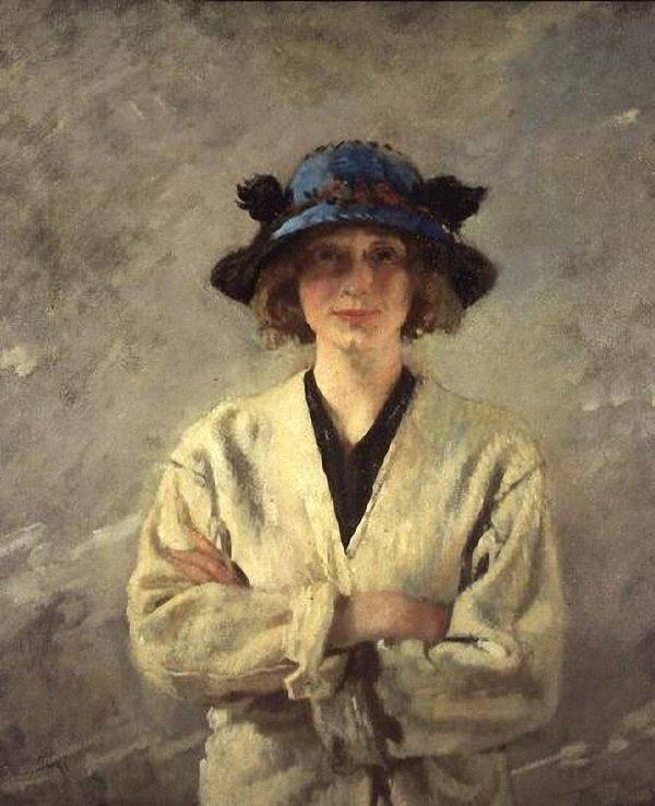 fille dans un blanc robe de William Newenham Montague Orpen (1878-1931, Ireland) | Reproductions De Peintures Célèbres | WahooArt.com