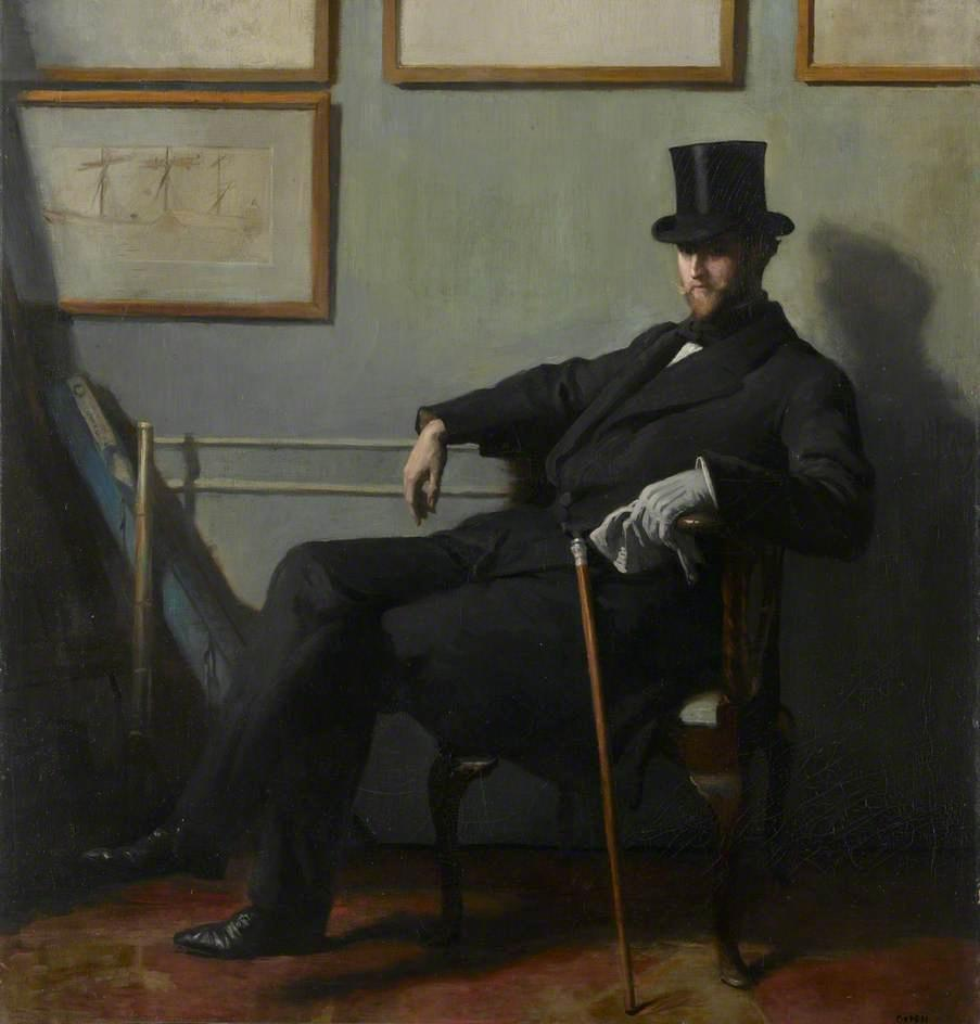 herbert barnard john everett, huile sur toile de William Newenham Montague Orpen (1878-1931, Ireland)