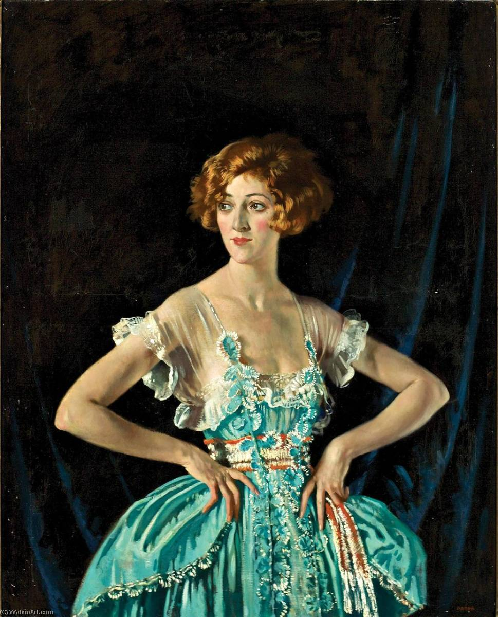Mme . Rubis Melville, 1920 de William Newenham Montague Orpen (1878-1931, Ireland) | Reproductions De Qualité Musée | WahooArt.com