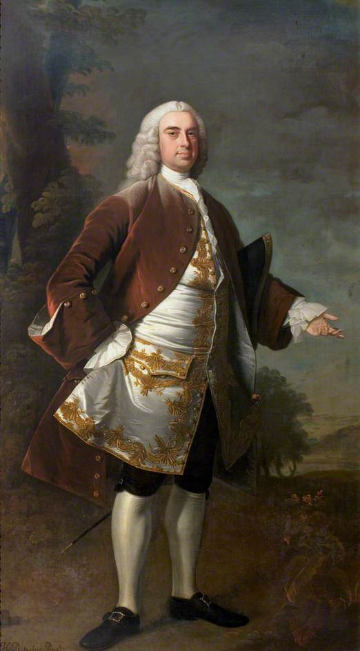 Monsieur wolstan dixie ( 1700–1767 ) , 4th Bt , market bosworth, 1741 de Henry Pickering | Copie Tableau | WahooArt.com