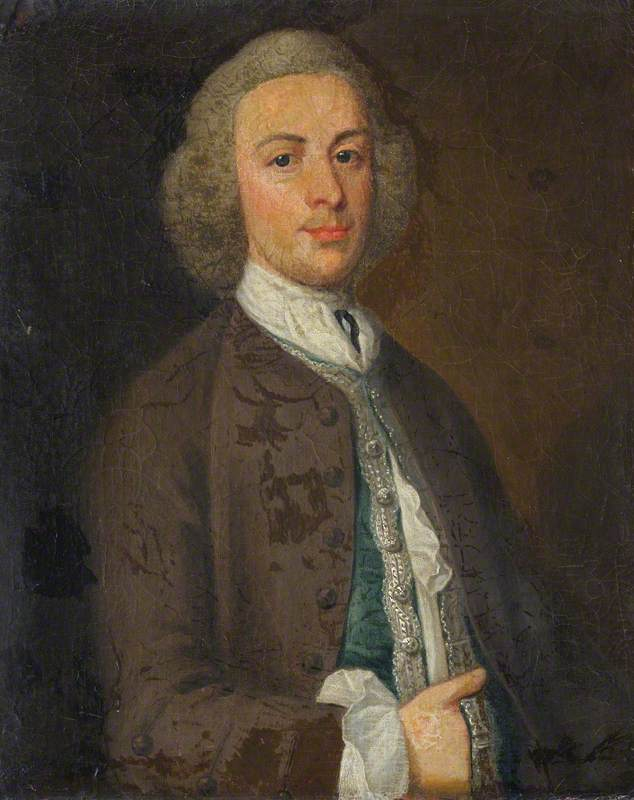 Monsieur jacob downing ( ré . 1764 ) , 4th Bt, huile sur toile de Henry Pickering