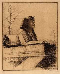 Bertha Evelyn Jaques - Sphinx , Tamise , Londres