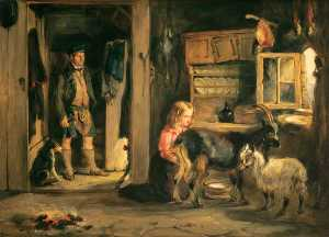 William Simson - Une Goatherd's Chalet