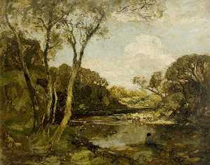 William Mouncey - Pool on la rivière Dee