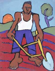 William Henry Johnson - homme avec Charrue
