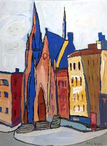 William Henry Johnson - Église sur lenox Allée