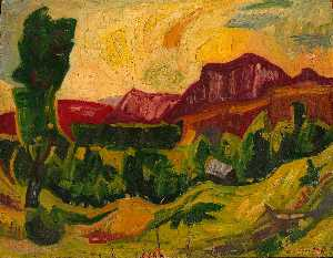 William Henry Johnson - montagnes et champs