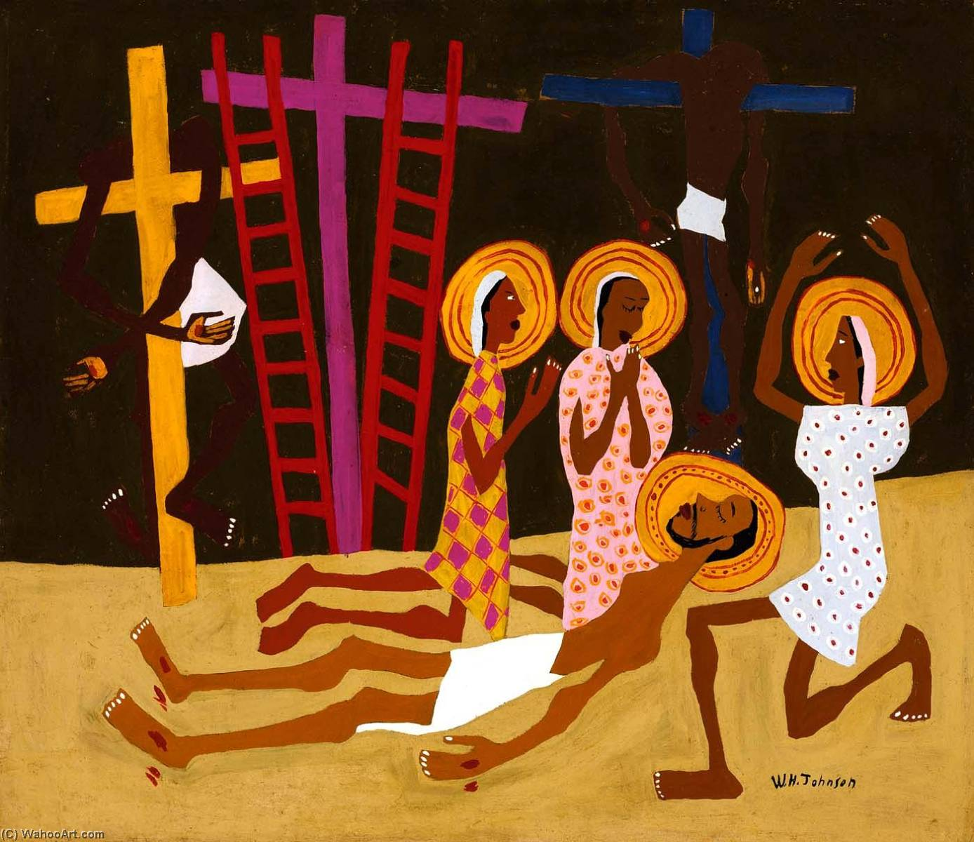Lamentation, 1944 de William Henry Johnson (1901-1970, United States) |  | WahooArt.com