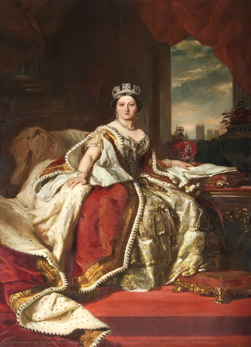 la reine victoria 1819 1901 copie d 39 apr s franz xaver winterhalter huile sur toile de. Black Bedroom Furniture Sets. Home Design Ideas