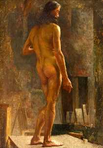 William Gibbes Mackenzie - Debout Male Nude