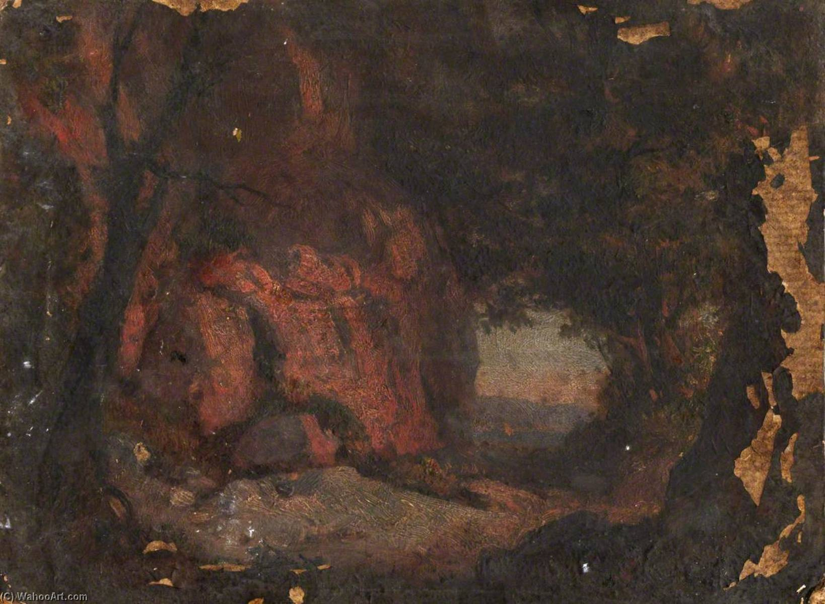 Un Rocky Outcrop, Huile de Thomas Stuart Smith