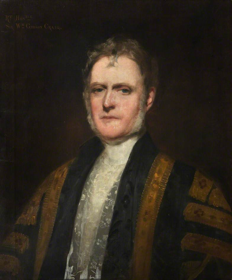 le droit Honorable Monsieur william gibson craig ( 1797–1878 ) , 2nd Bt de Riccarton, 1863 de John Watson Gordon | Reproductions De Peintures Célèbres | WahooArt.com