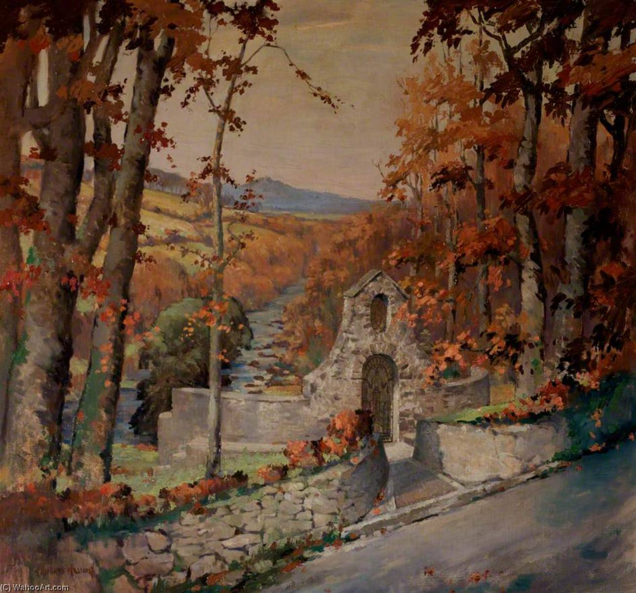 La tombe de lloyd george, huile sur toile de Harry Hughes Williams