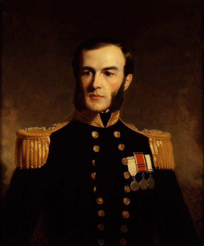 Monsieur edward augustus inglefield ( copie d`après un original c . 1853 par lartiste ) de Stephen Pearce (1819-1904, United Kingdom) | Reproductions D'art Stephen Pearce | WahooArt.com