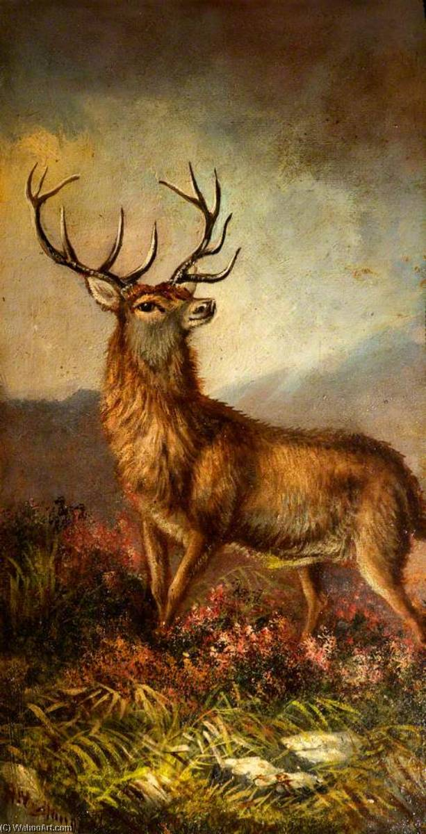 Cerf, 1925 de Alfred Worthington | Reproductions D'art Alfred Worthington | WahooArt.com
