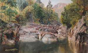Frederick William Hayes - Le Miners' Pont , bettws y coed