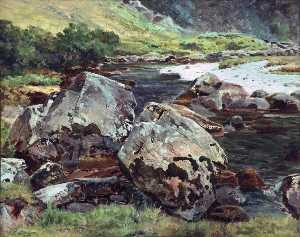 Frederick William Hayes - Rochers près de aberglaslyn