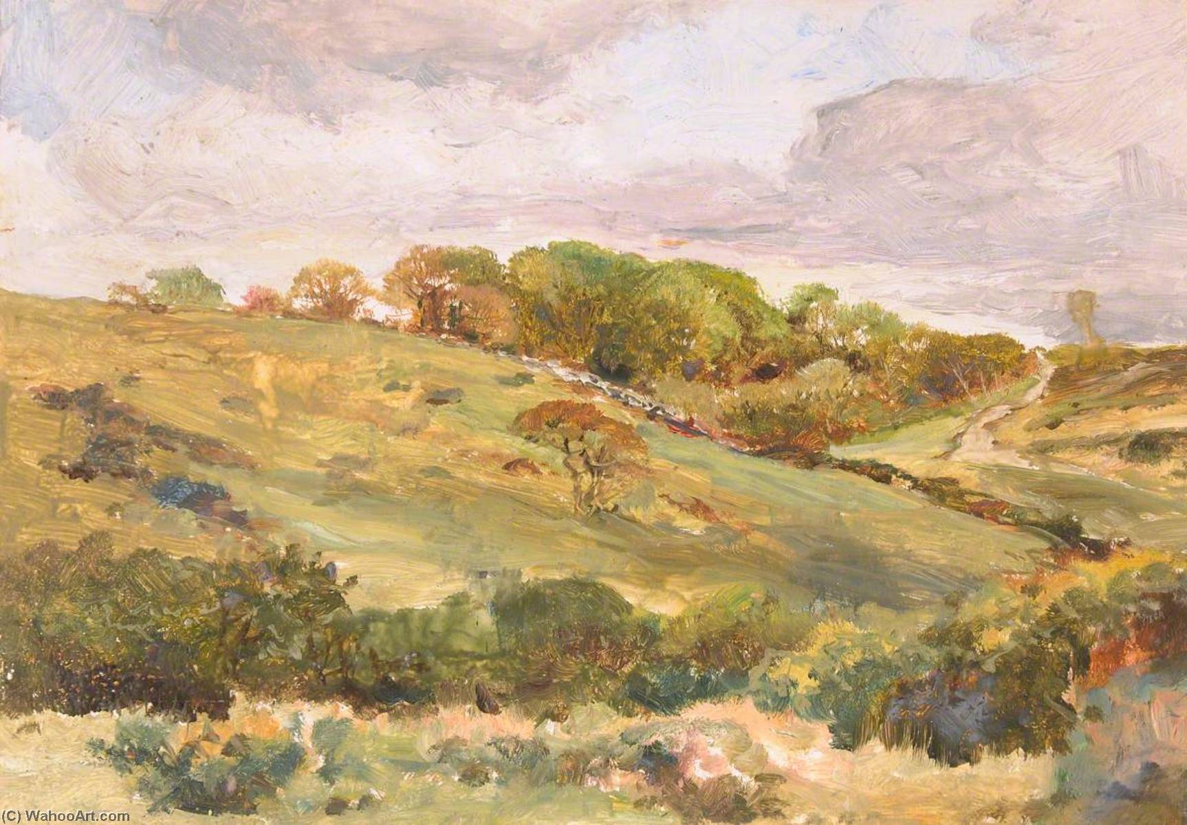 Achat Reproductions D'art | Llandwrog, 1880 de Frederick William Hayes | WahooArt.com
