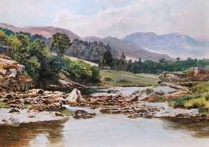 Frederick William Hayes - le glaslyn rivière