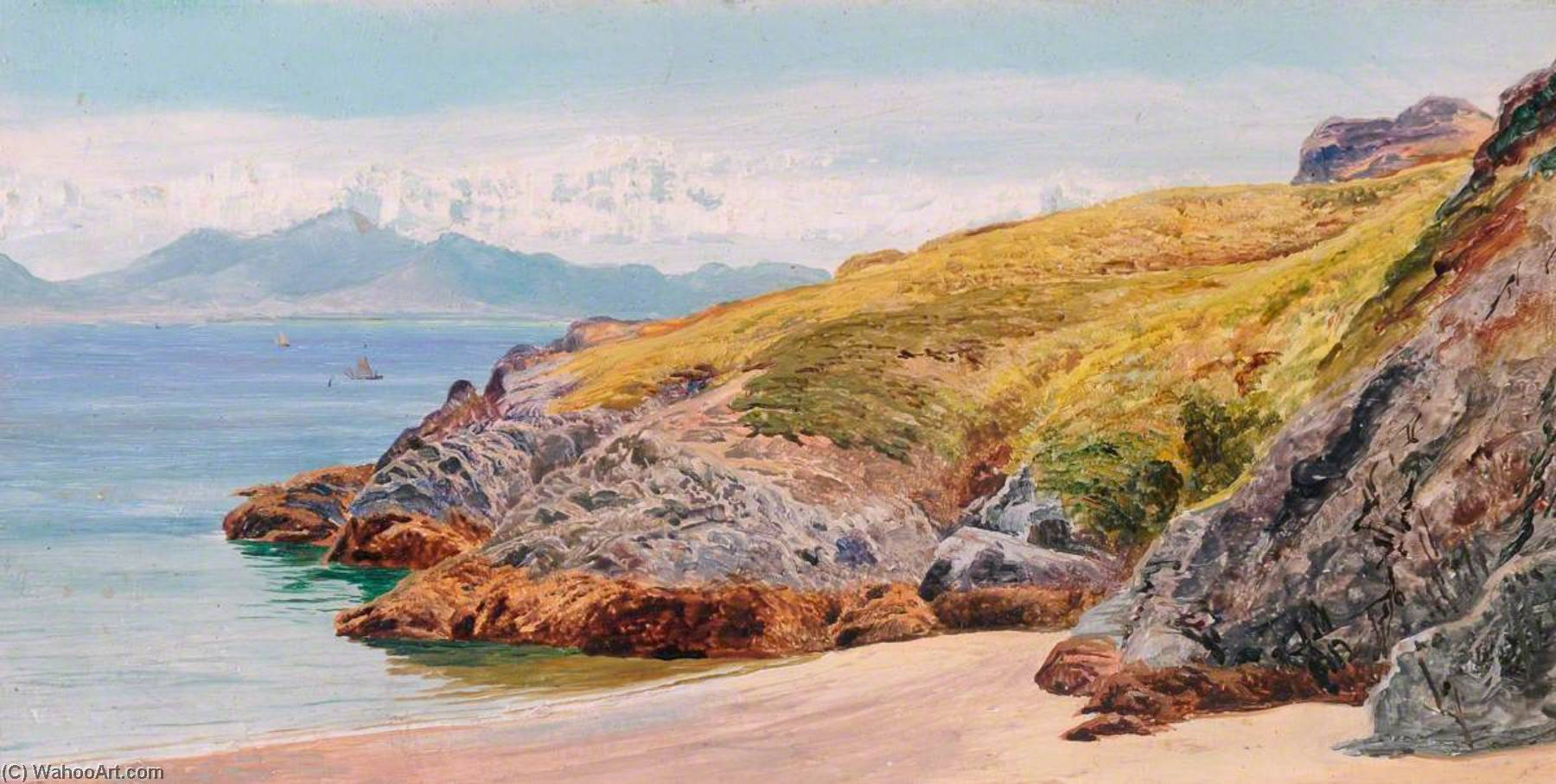 llanddwyn ii, 1885 de Frederick William Hayes | Reproductions D'art De Musée Frederick William Hayes | WahooArt.com