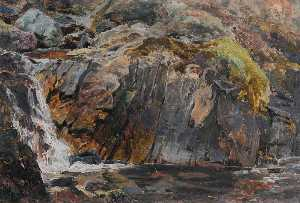 Frederick William Hayes - Une cascade