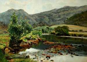 Frederick William Hayes - Sur l Glaslyn Rivière