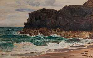 Frederick William Hayes - lighthouse rock , Llanddwyn