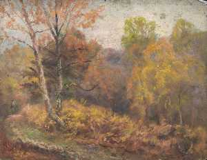 William Henry Hope - Paysage automnal