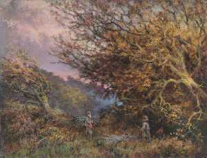 William Henry Hope - Une automne l'après midi , Shirley , Surrey
