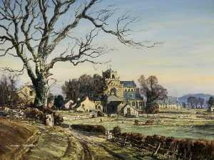 Claude Muncaster - Winter's Matin , Cartmel Prieuré , Cumbria