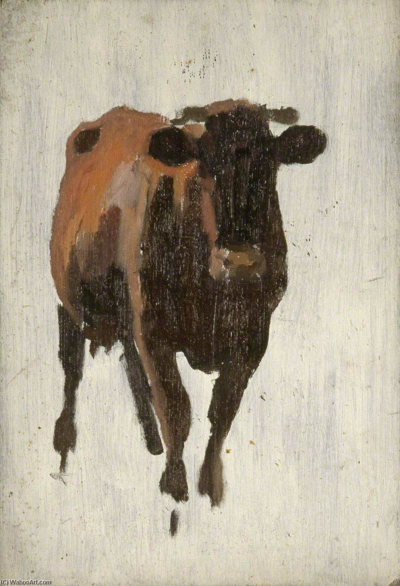 vache permanent, 1930 de Gunning King | Reproductions D'art Sur Toile | WahooArt.com